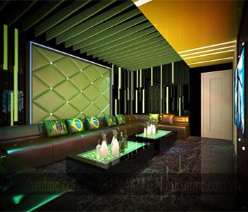 Mẫu nội thất phòng giải trí karaoke đẹp