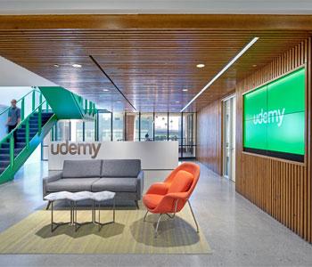 Mẫu thiết kế nội thất Văn phòng Udemy – San Francisco