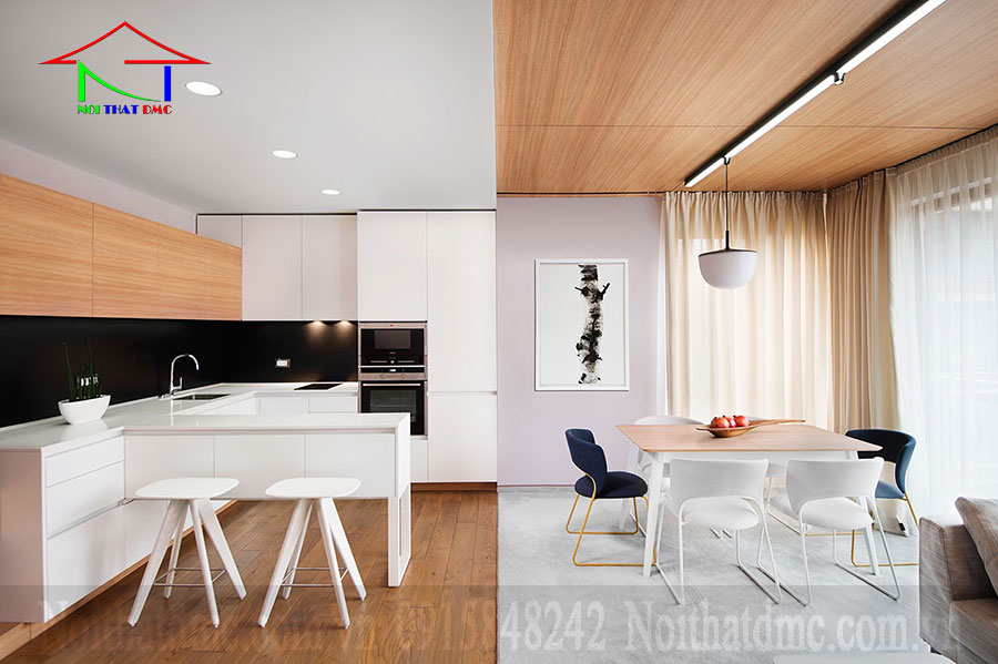 Thiết kế nội thất nhà ở sử dụng gỗ tự nhiên