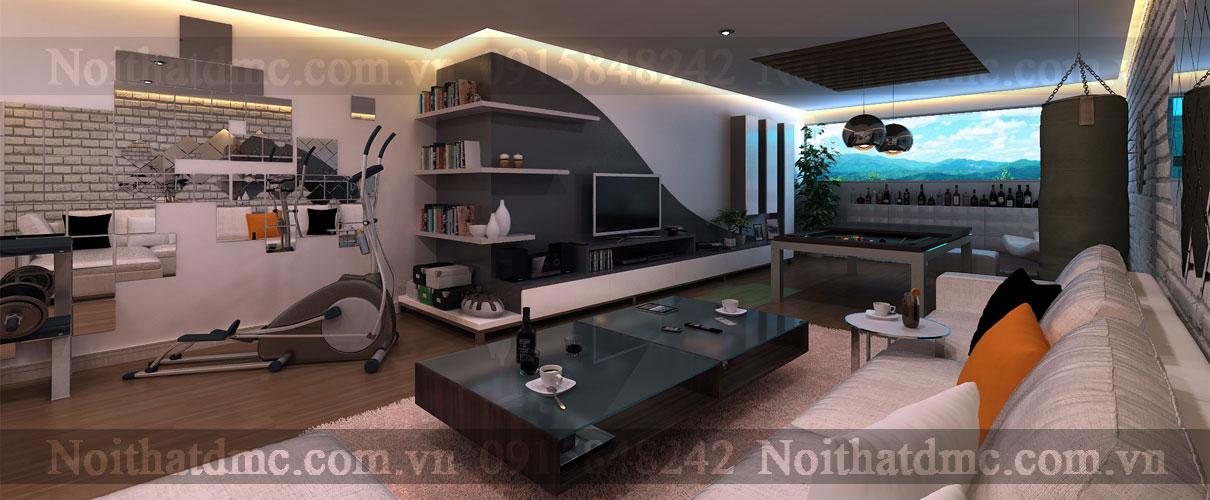 Mẫu nội thất phòng giải trí hiện đại tại nhà riêng