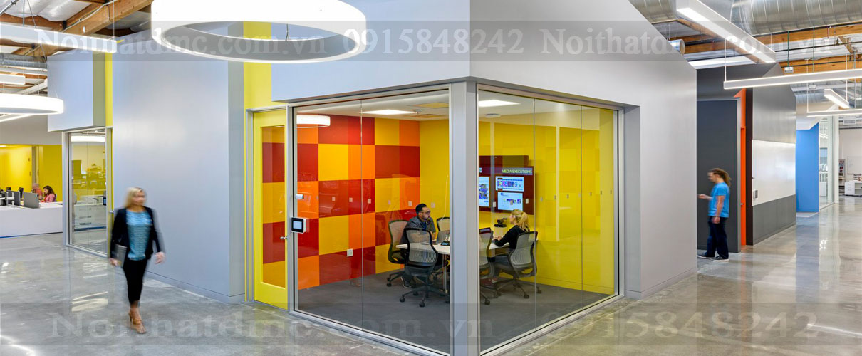 Mẫu thiết kế nội thất Văn phòng Namco Bandai – Santa Clara