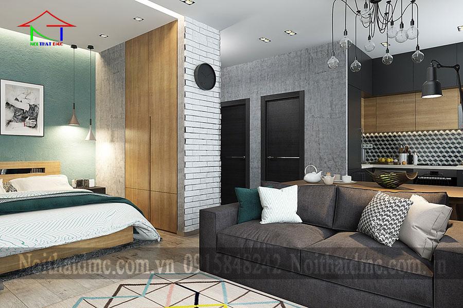 Thiết kế nội thất căn hộ chung cư dưới 50m2