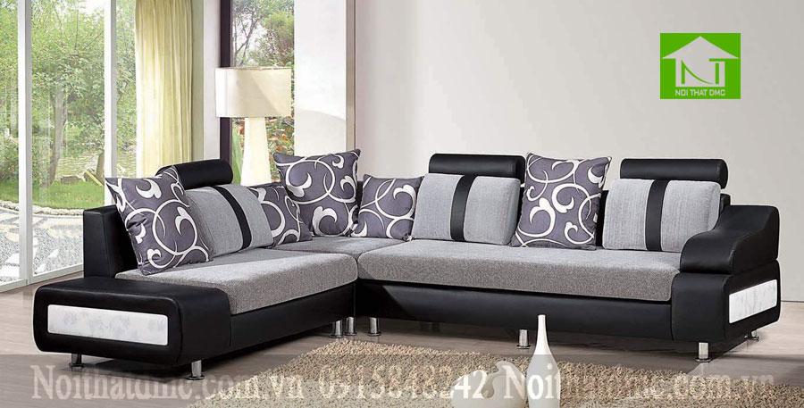 bộ sofa phòng khách đen huyền bí và sang trọng BGPKF09