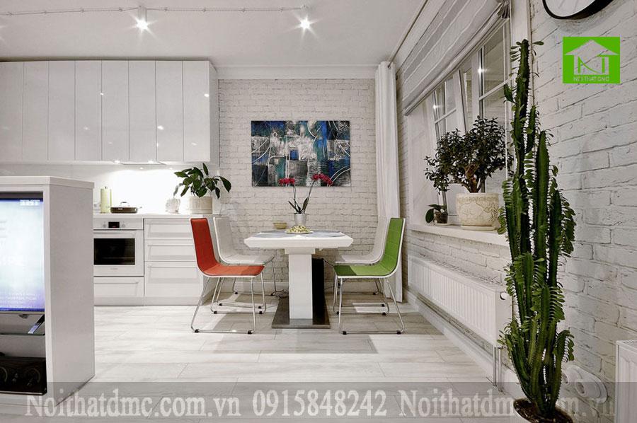 Mẫu thiết kế cải tạo nội thất chung cư 47m2 ở Perm, Nga.