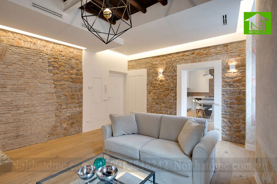 Mẫu thiết kế nội thất chung cư 63m2 ở Rome, Italy