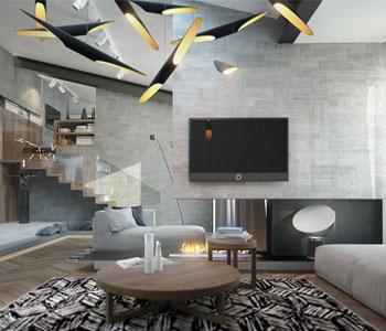 Thiết kế nội thất nhà ở bố trí hợp lý không gian ánh sáng