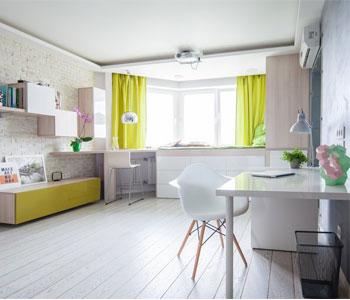 Mẫu thiết kế nội thất chung cư 42m2 ở Yuzhno-Sakhalinsk, Nga.