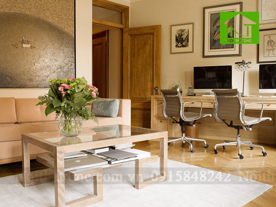 Thiết kế nội thất văn phòng với bàn trà thư giãn
