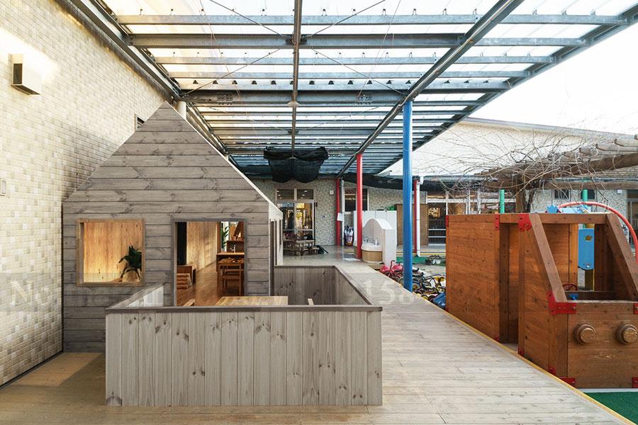 Ngôi nhà mini được thiết kế và thi công trong khuôn viên trường học - Thiết kế nội thất Trường Mầm non Ouchi