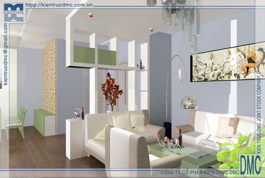 Thiết kế nội thất chung cư diện tích 56m2
