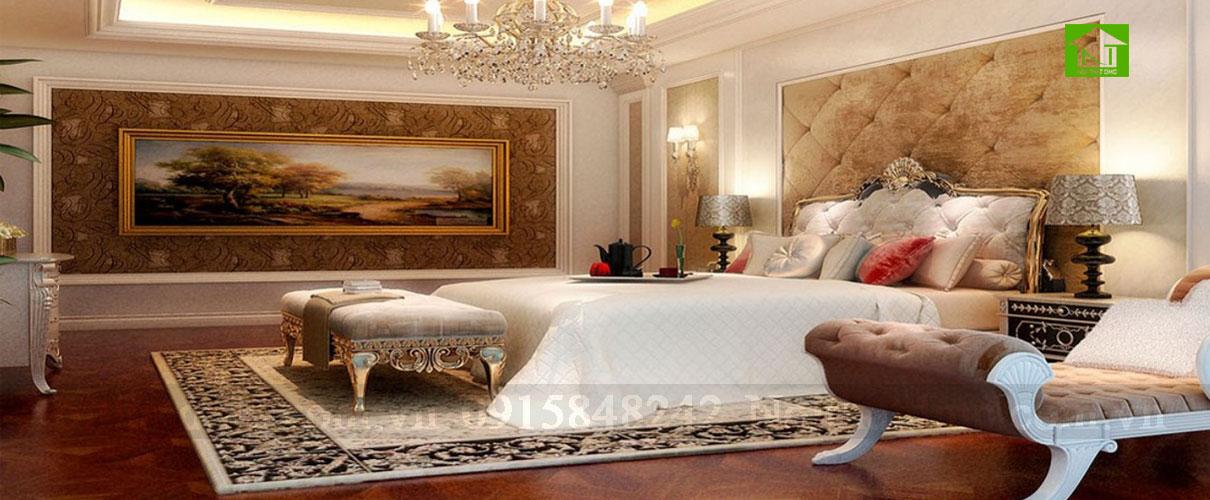 Điều hoà màu sắc không gian phòng ngủ trong tư vấn phong thuỷ