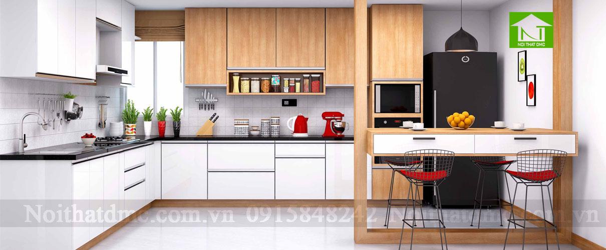 Tư vấn thiết kế nội thất không gian bếp bằng những gam màu ấn tượng