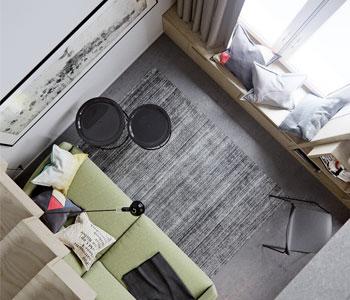 Thiết kế nội thất căn hộ chung cư diện tích 50m2 đẹp, hiện đại